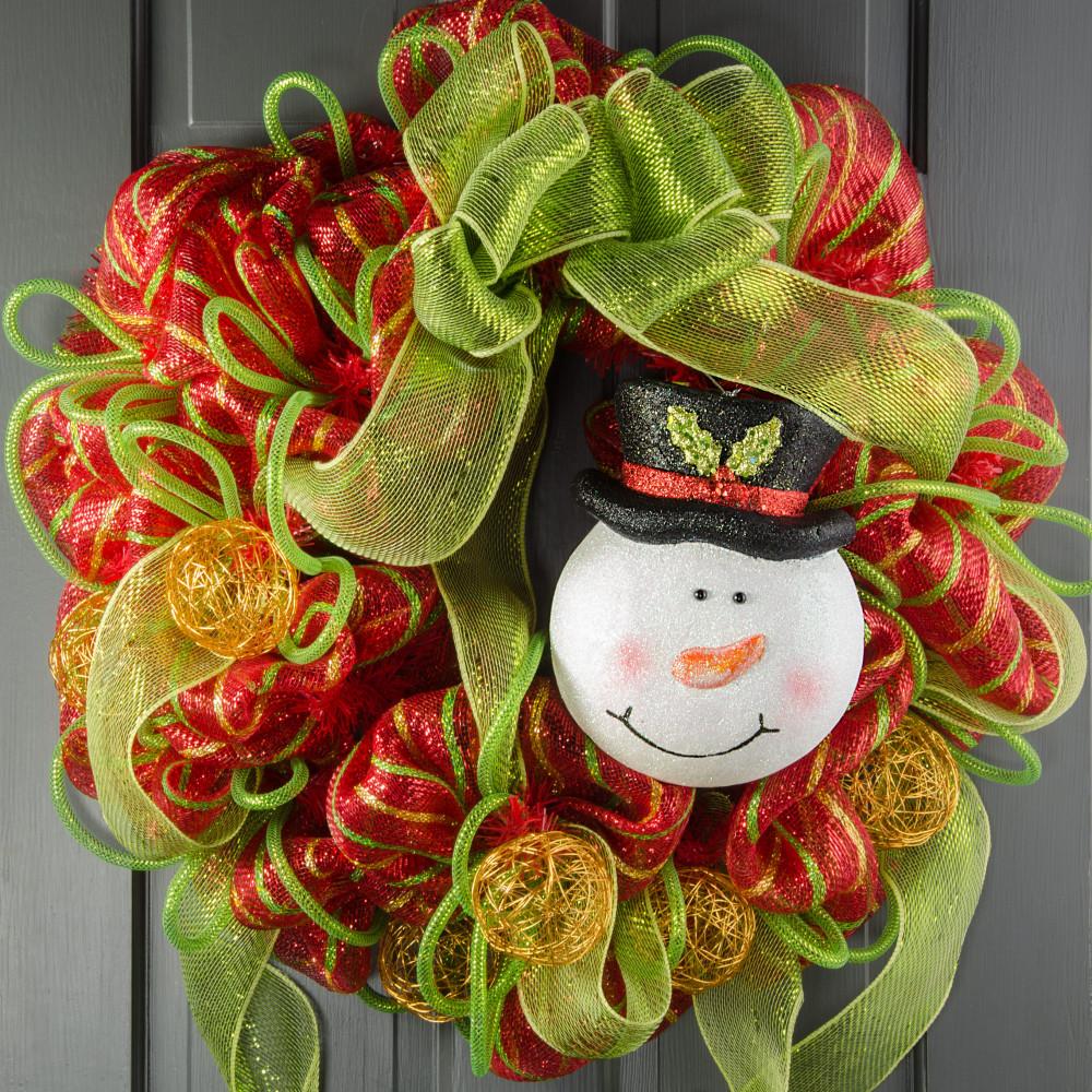 Snowman face ornament - 9 Glittered Snowman Face Ornament