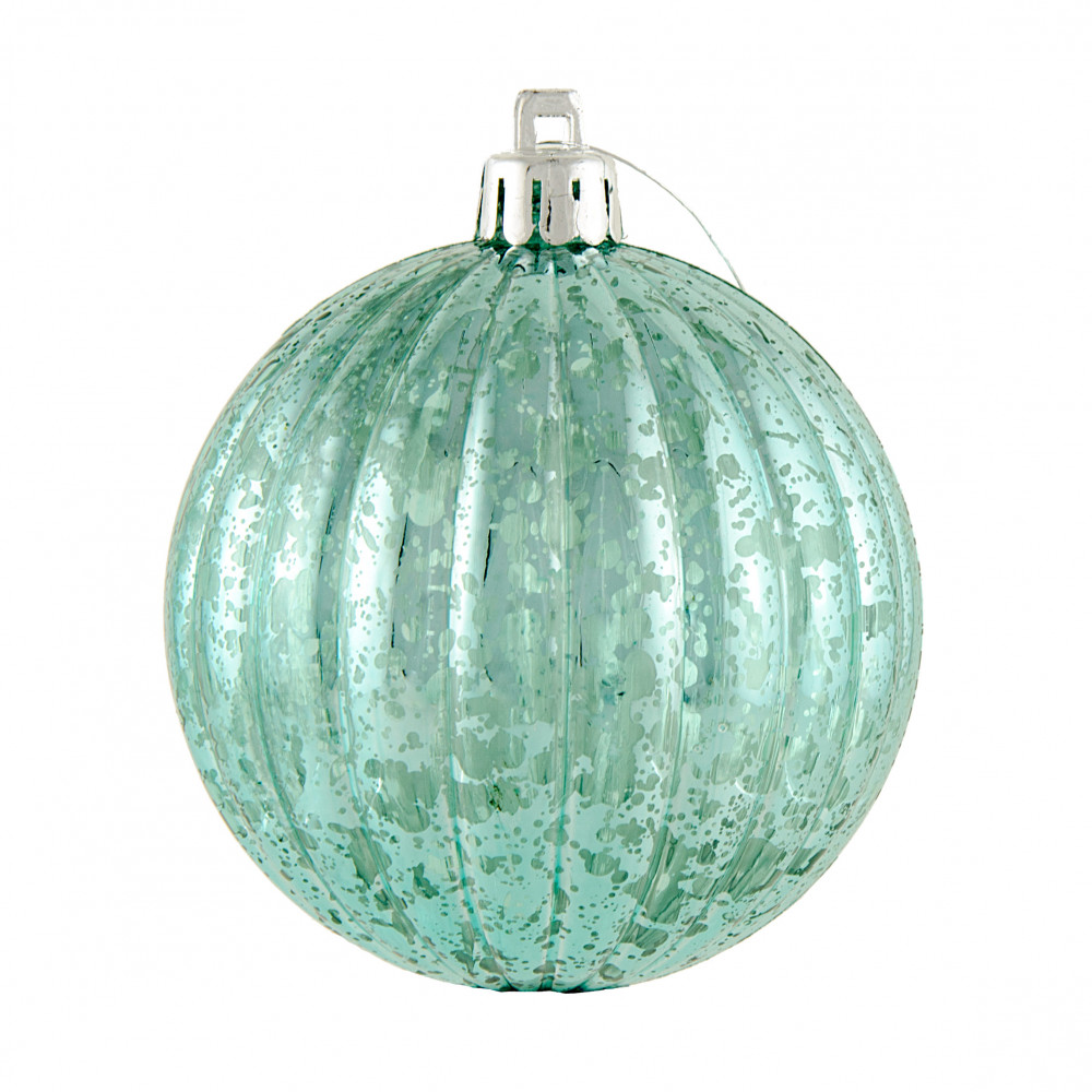 Mm round vertical stripe metallic ball ornament antique