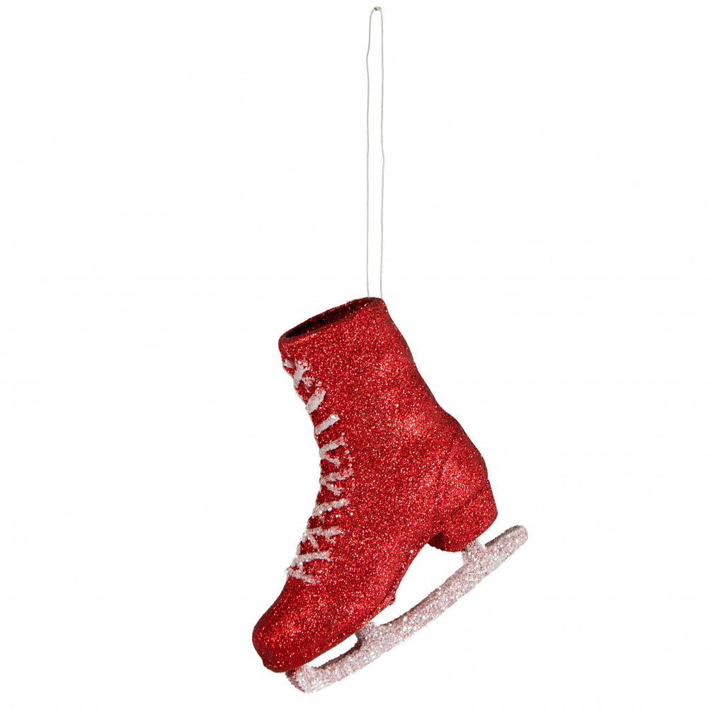 7 ice skate ornament red - Ice Skating Christmas Ornaments