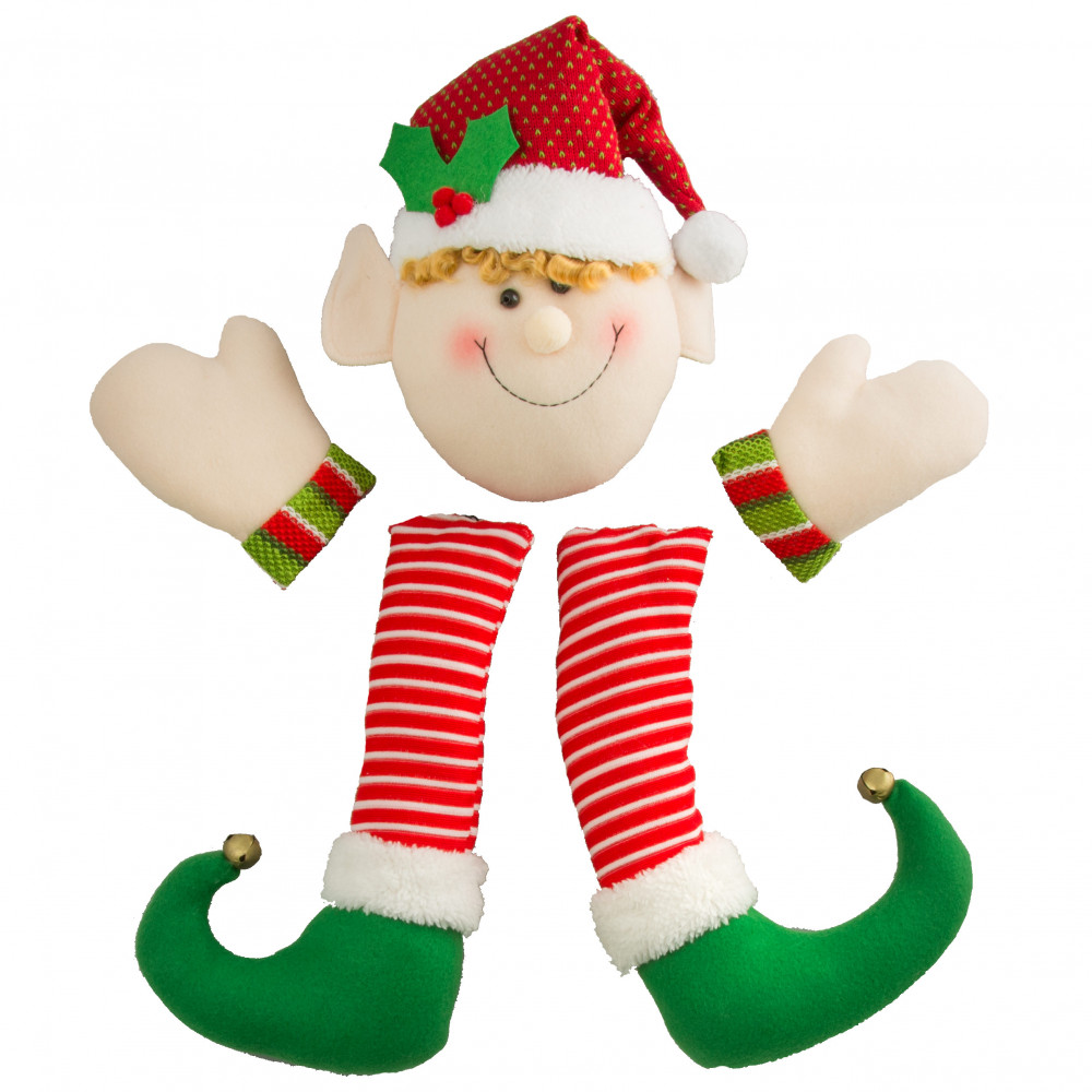 christmas plush elf wreath kit 5 pieces