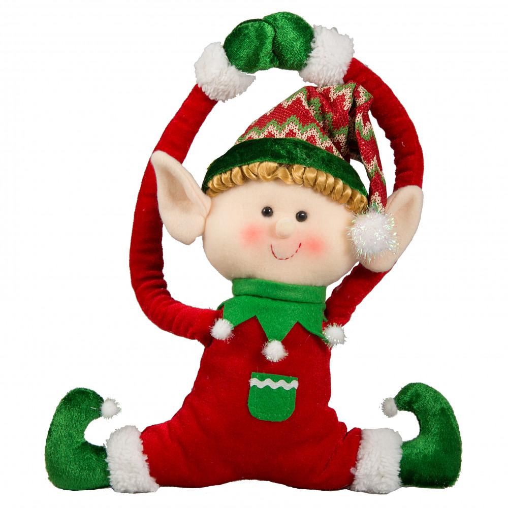 16 holiday elf door hanger red 82855rd for Red elf door