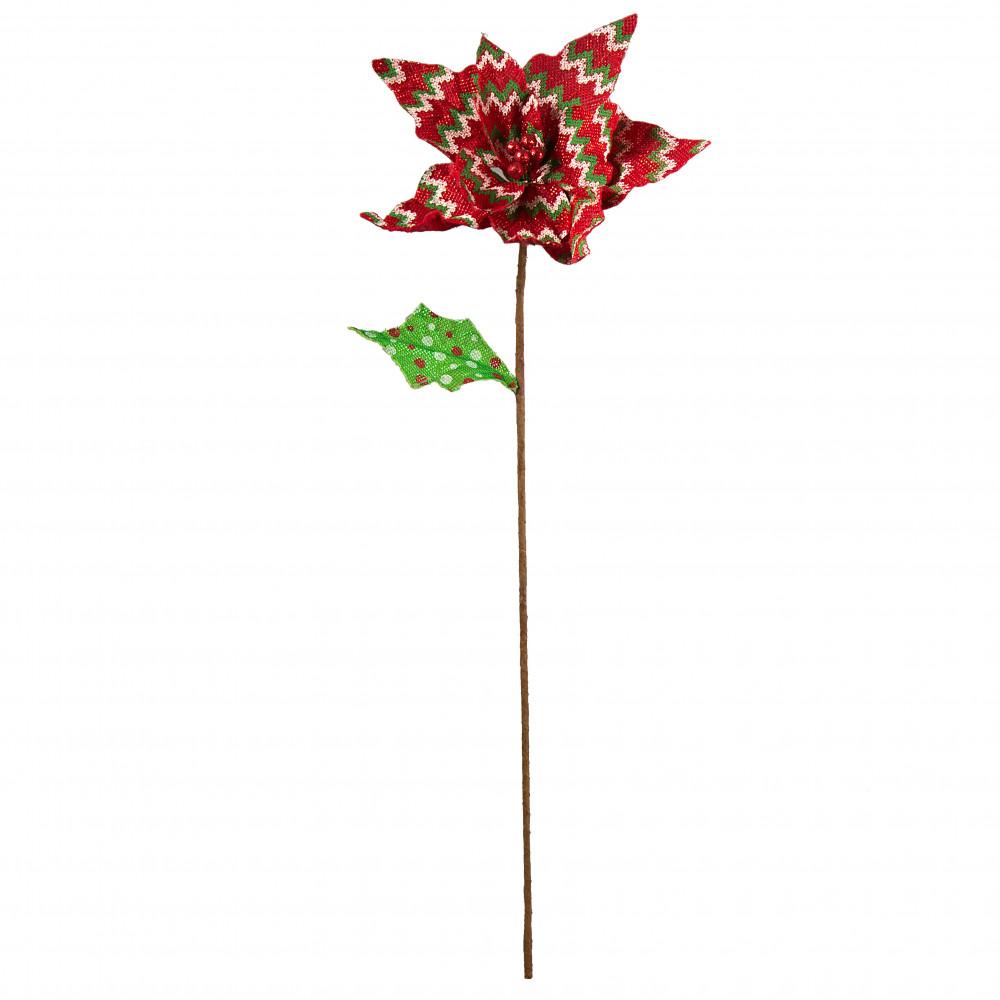 24 Knit Pattern Poinsettia Flower Stem Red 82594rd Craftoutlet