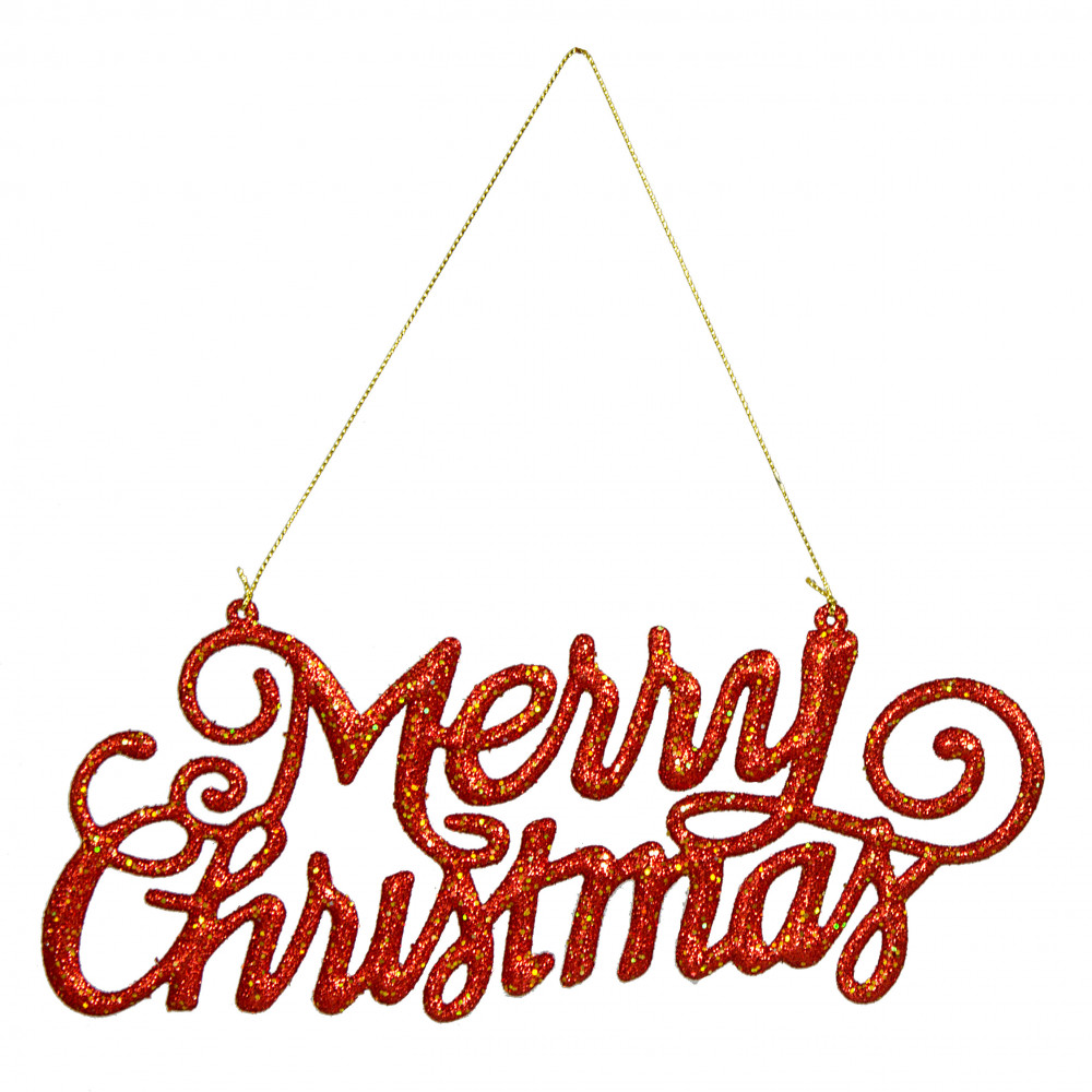 9 merry christmas hanging ornament sign red 239603 - Hanging christmas ornaments ...