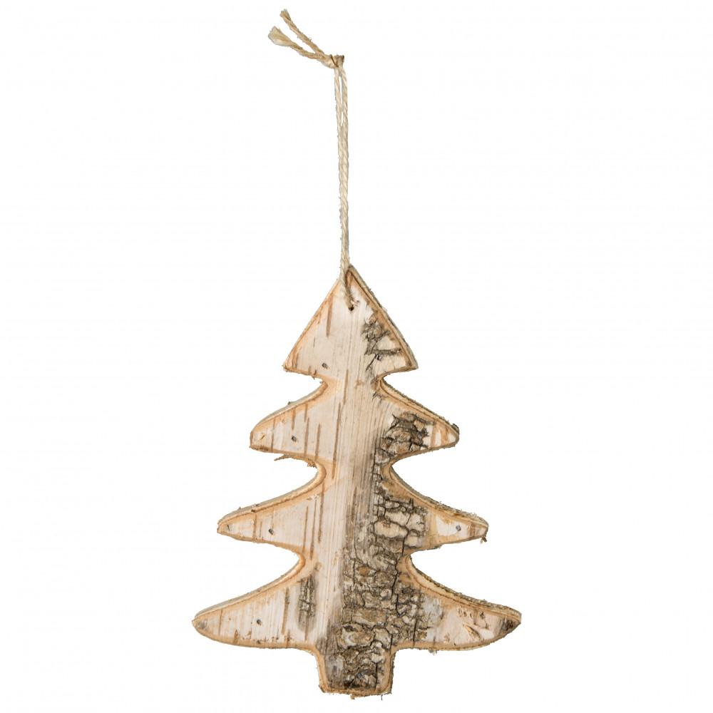 6 birch bark christmas tree ornament bleached
