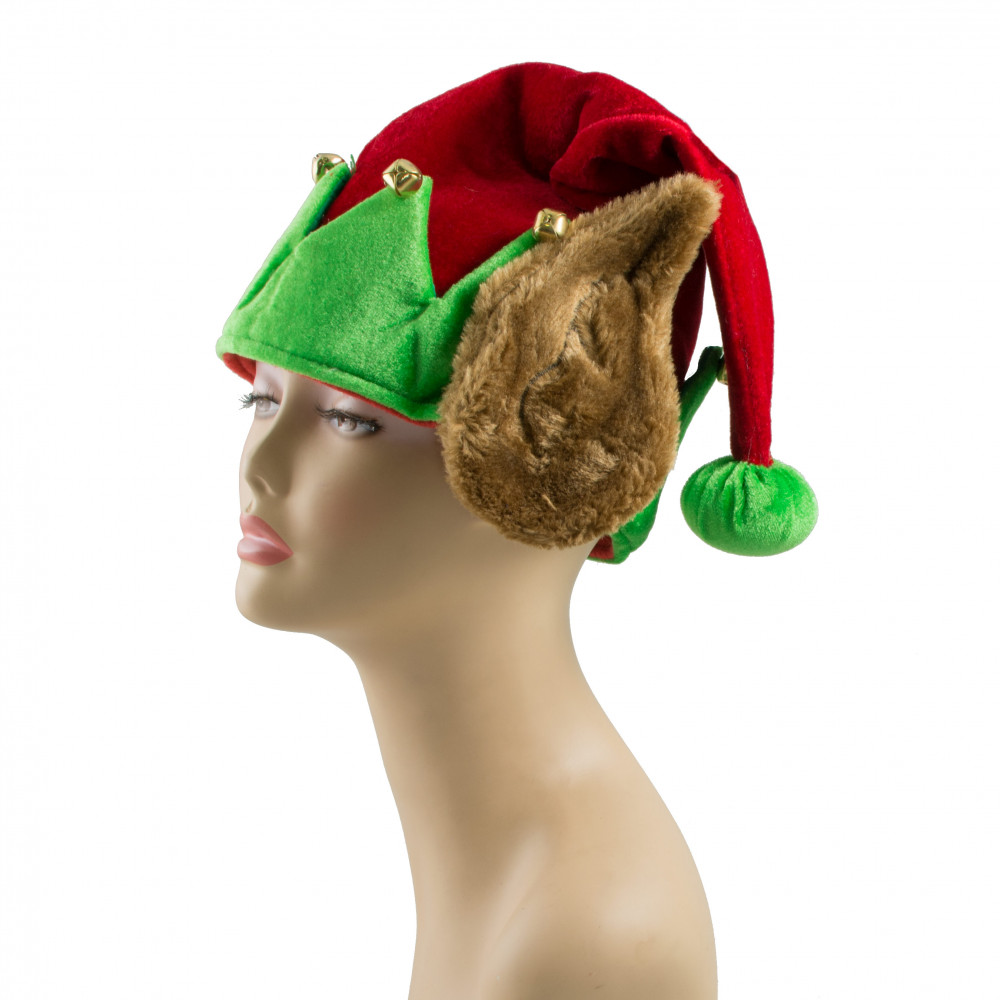 velvet christmas elf hat with fur ears 27161rgao craftoutlet com
