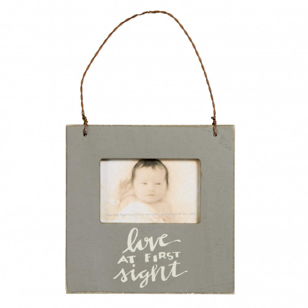 Mini Frame Ornament: Grey Love At First Sight [26812] - CraftOutlet.com