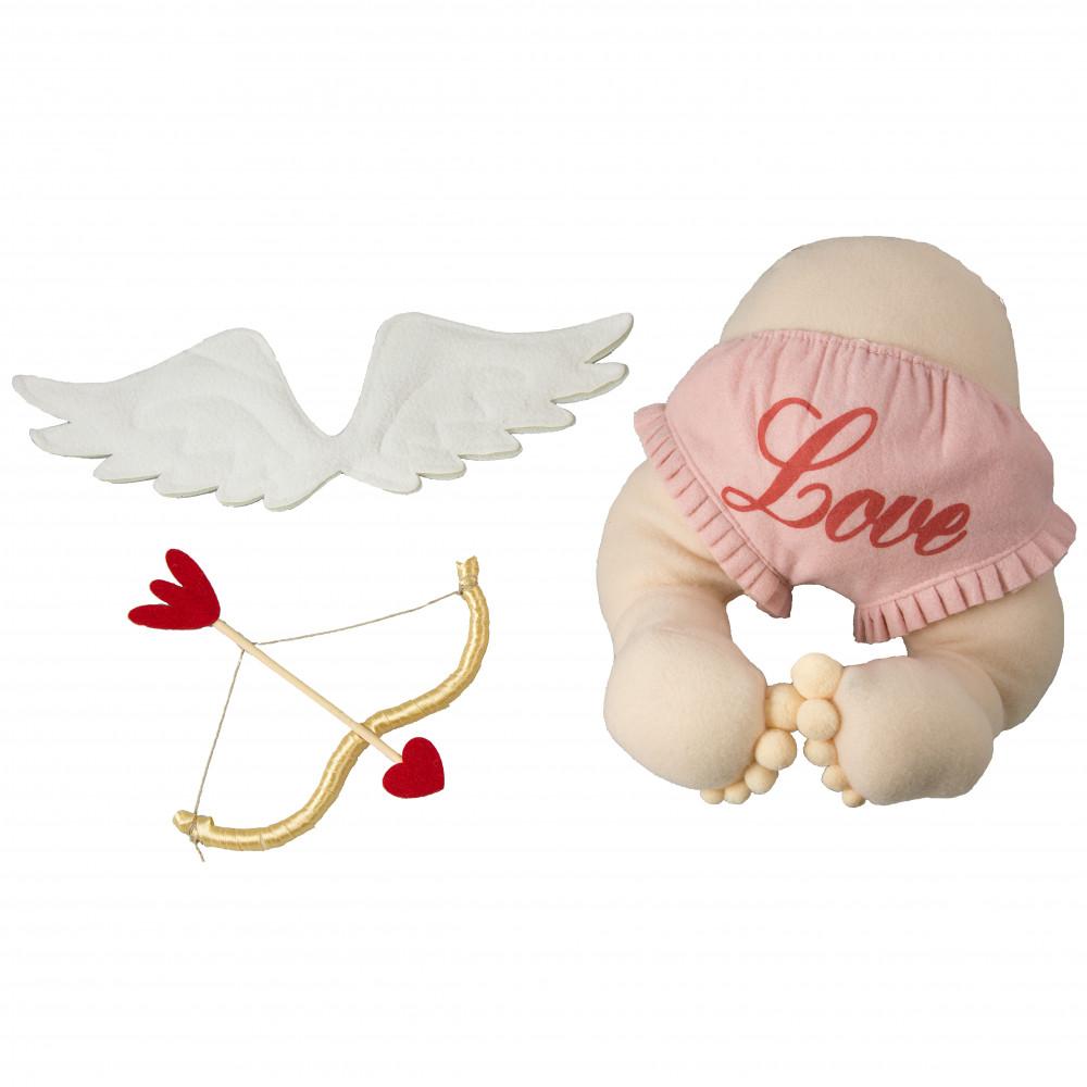 plush cupid valentine u0027s day wreath accent hv9098 craftoutlet com