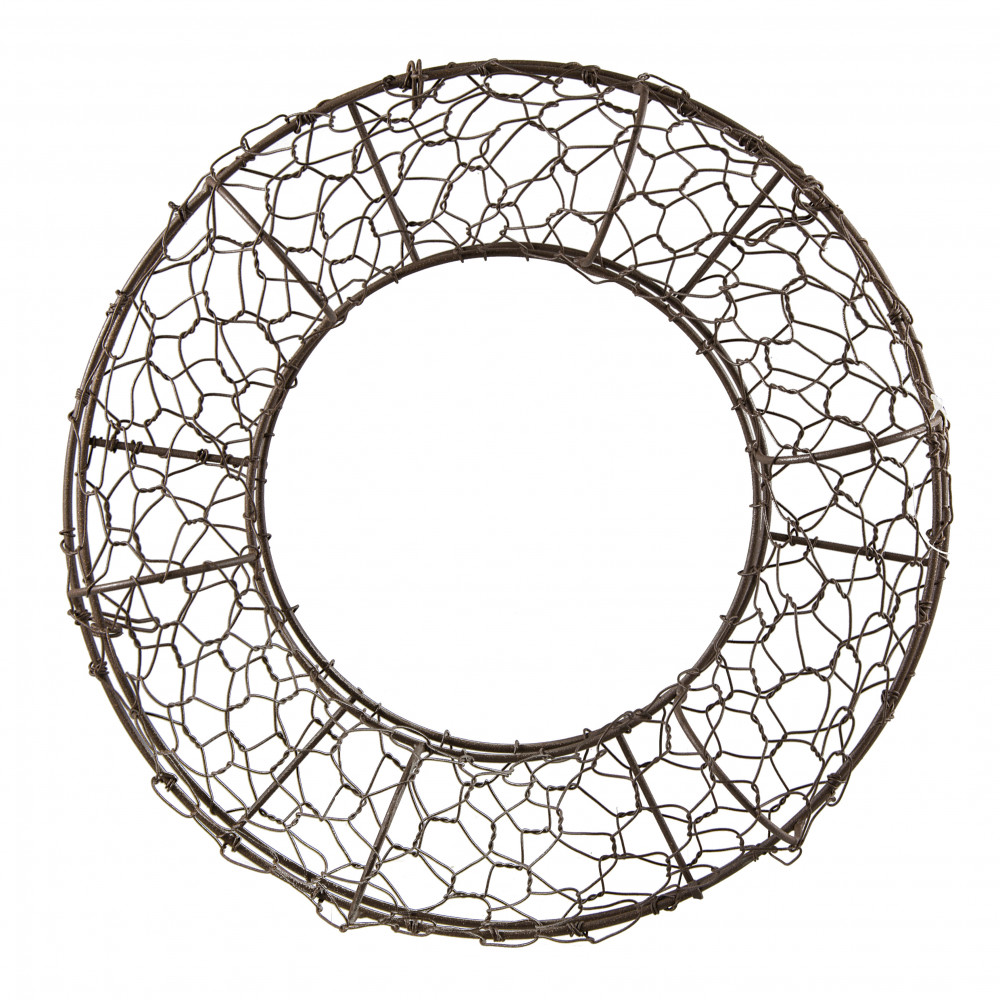 12 fillable rust chicken wire wreath form - Wire Wreath Frame