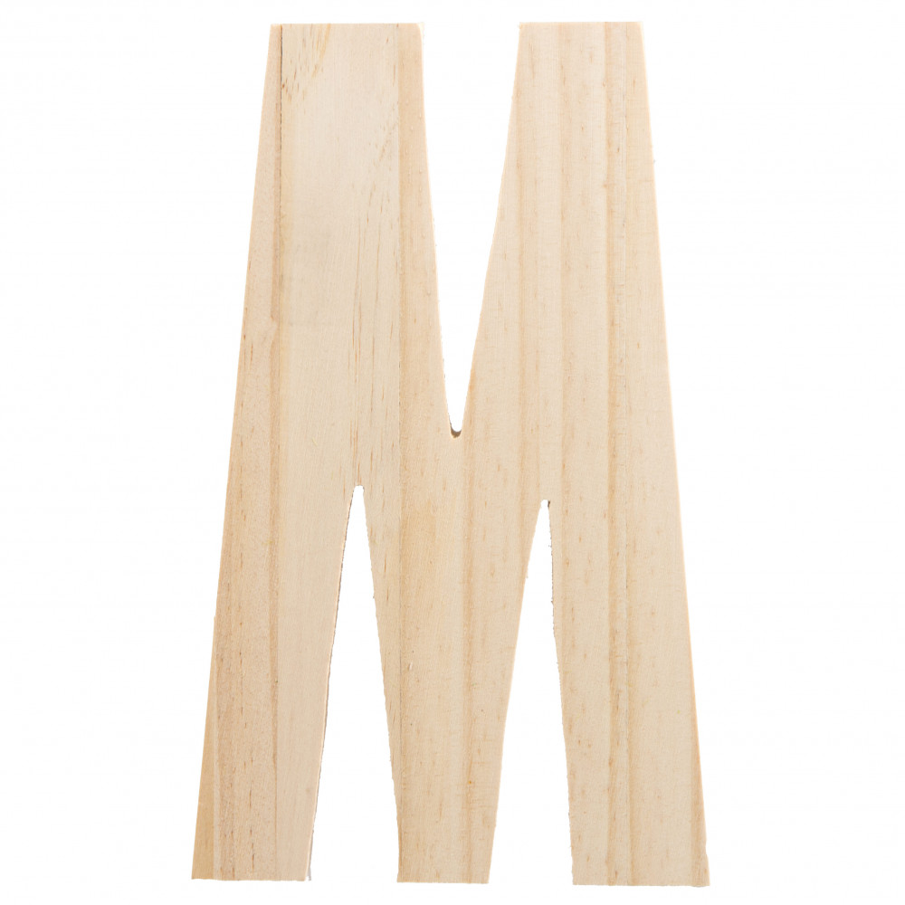 775 chunky wooden letter m