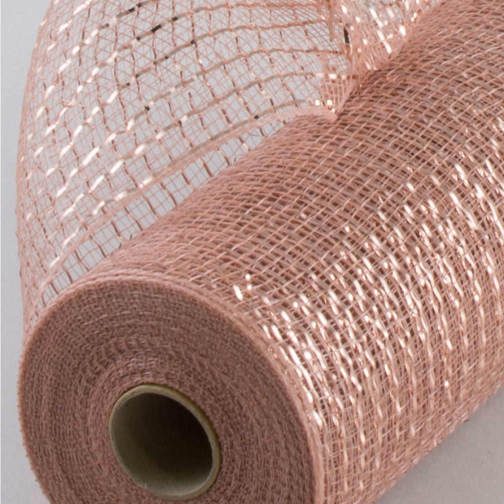 10 poly mesh rolls metallic rose gold xb90510 34. Black Bedroom Furniture Sets. Home Design Ideas