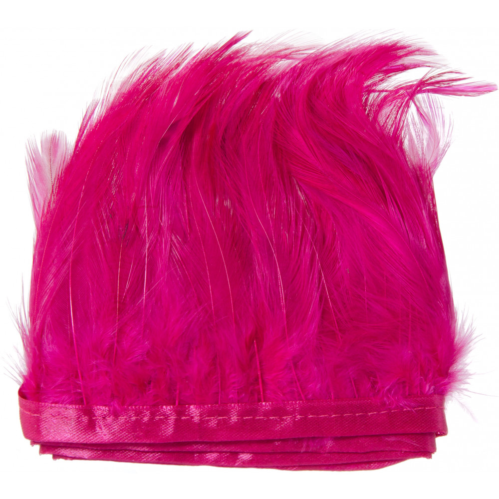 5 Quot Feather Fringe Trim Hot Pink 40 Quot 75 0183fs