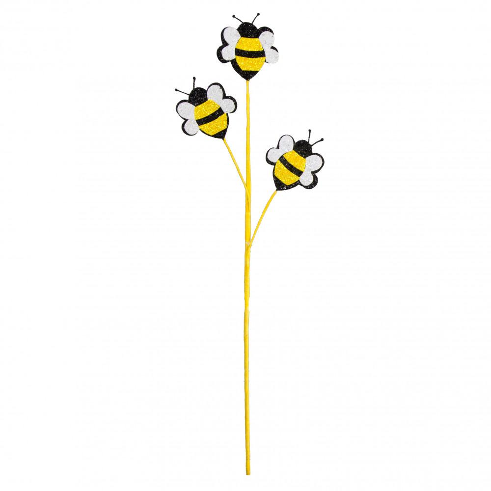 25 Glitter Foam Bumble Bee Spray Yellow Black White