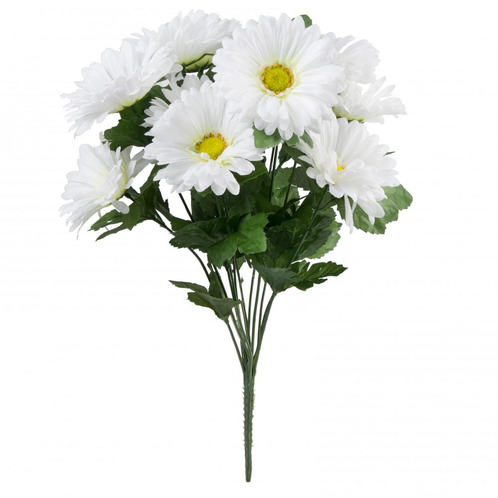 19 Gerbera Daisy Bush White 30377wt Craftoutlet
