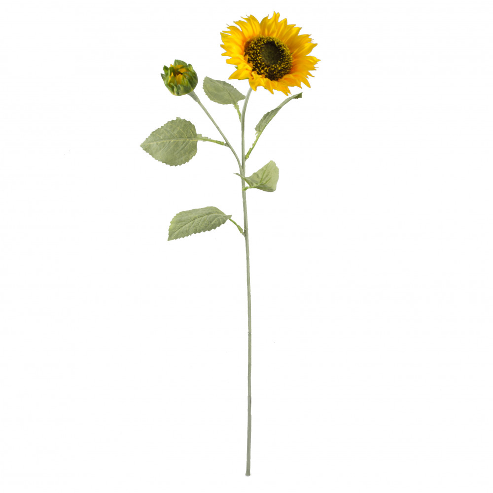 28 Double Sunflower Stem Yellow