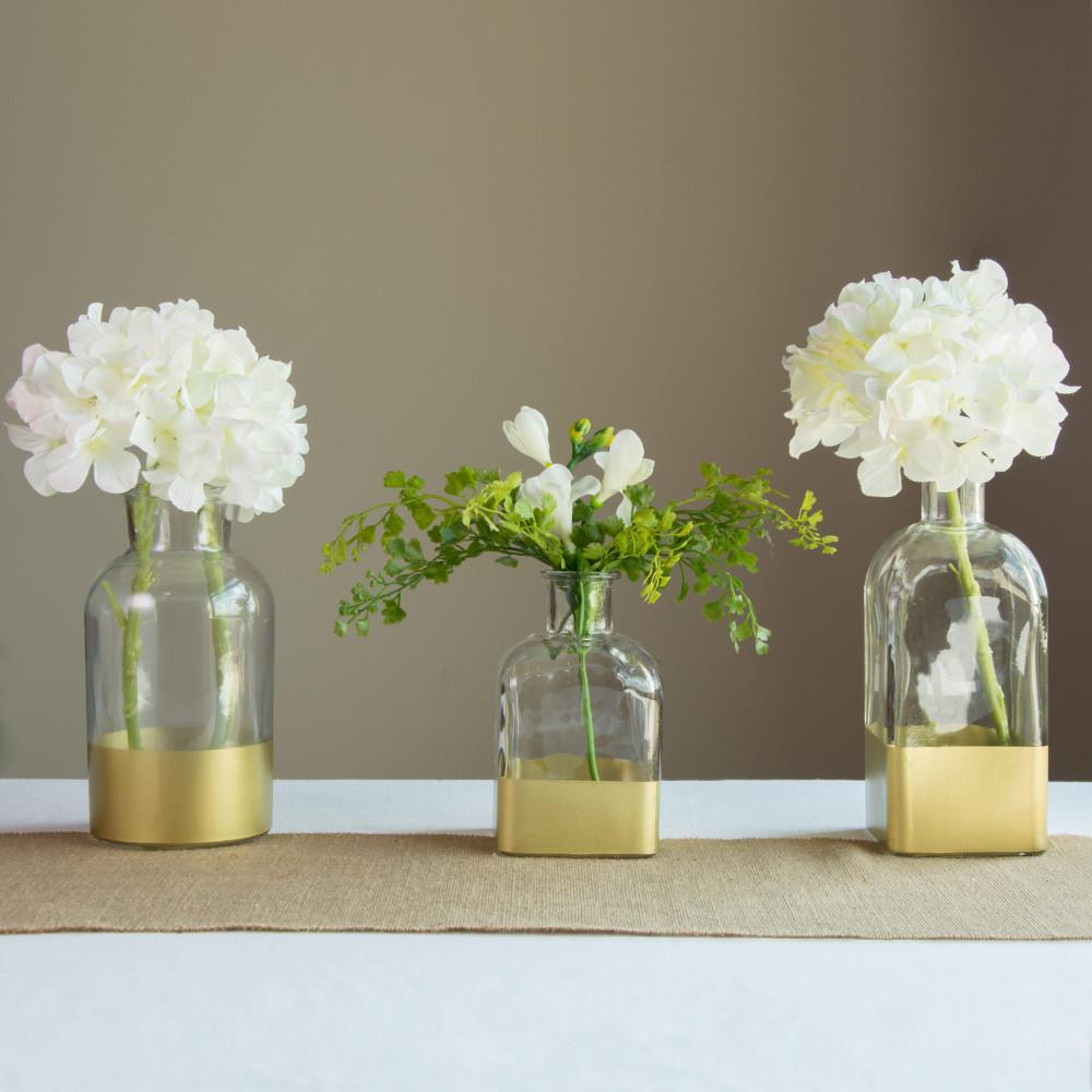 6 gold dipped bottle vase square 257973 craftoutlet 6 gold dipped bottle vase square reviewsmspy