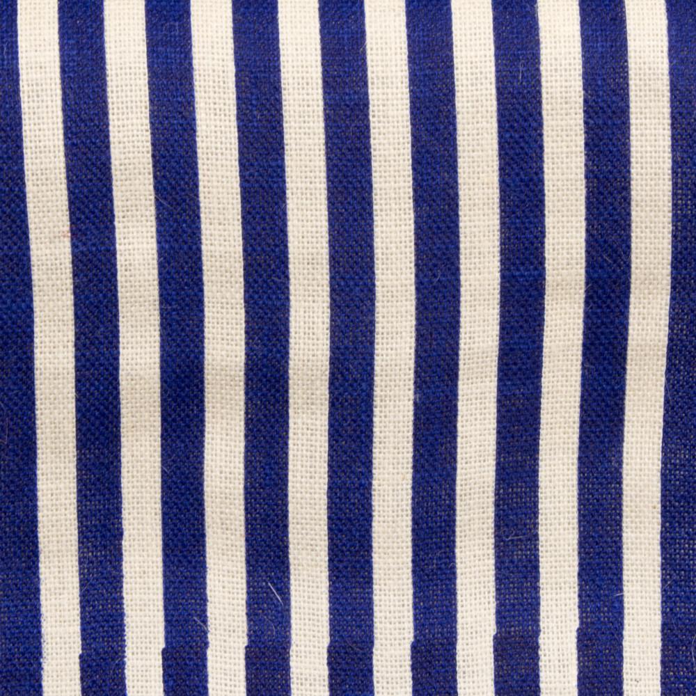 6u0027 Fringe Edge Burlap Table Runner: Navy U0026 Off White Stripe