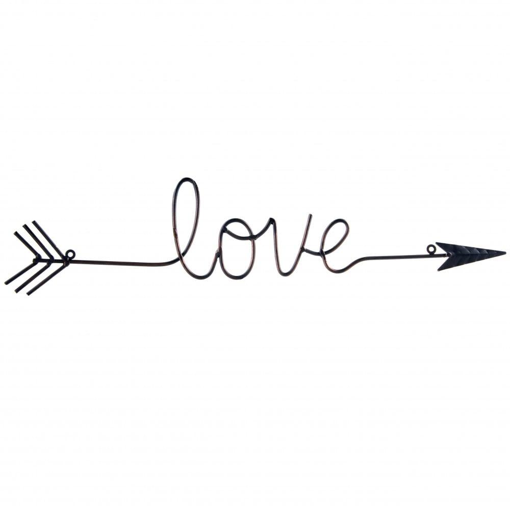 26 Quot Love Script Wire Arrow Osw170604 Craftoutlet Com