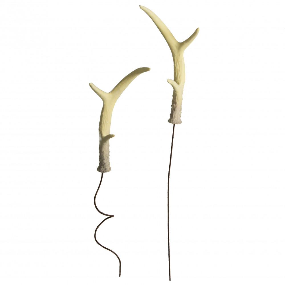 9 faux deer antlers on wire set of 2 mz2089 for Fake deer antlers for crafts