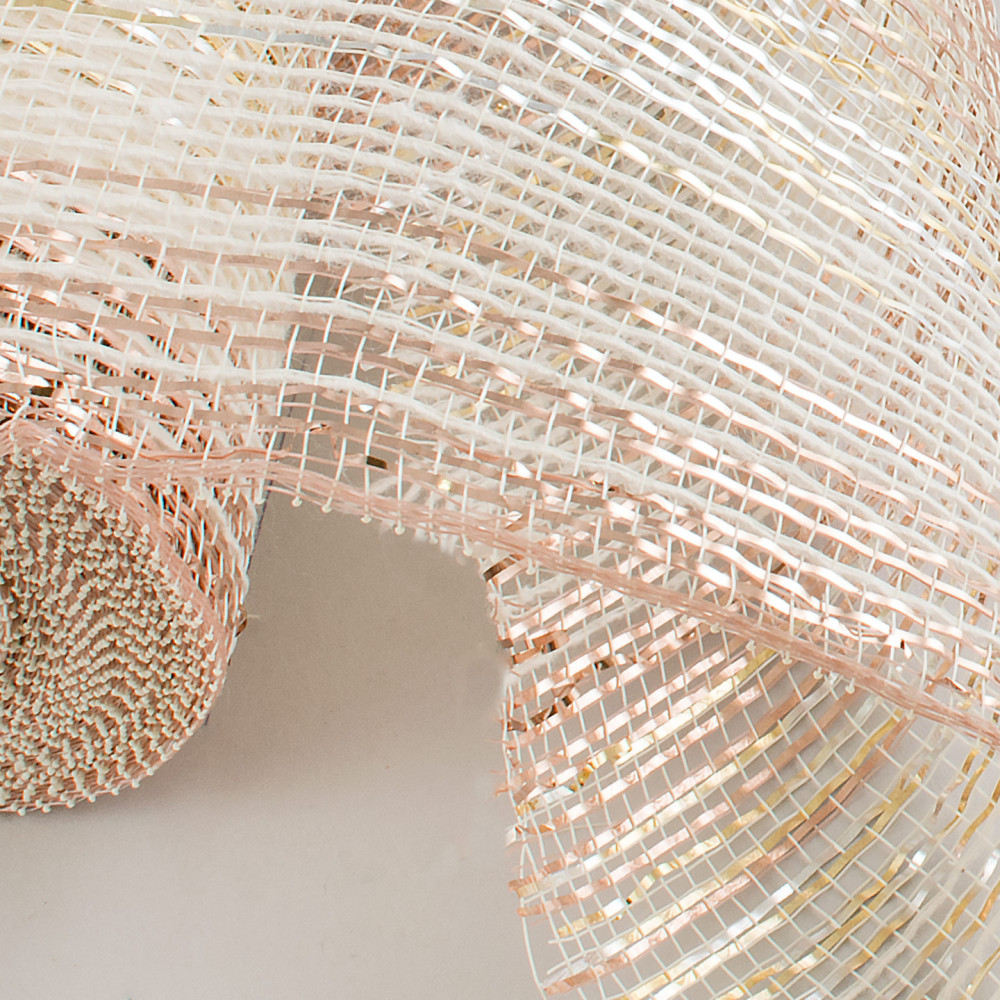 10 burlap deco mesh cotton metallic rose gold ombr xb99410 26. Black Bedroom Furniture Sets. Home Design Ideas