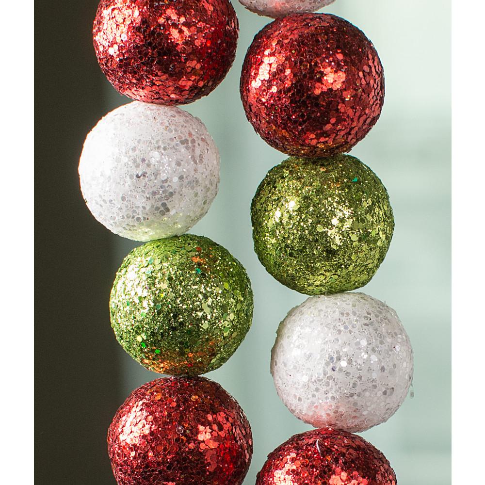 Christmas Ball Garlands.6 Glitter Ball Garland Christmas