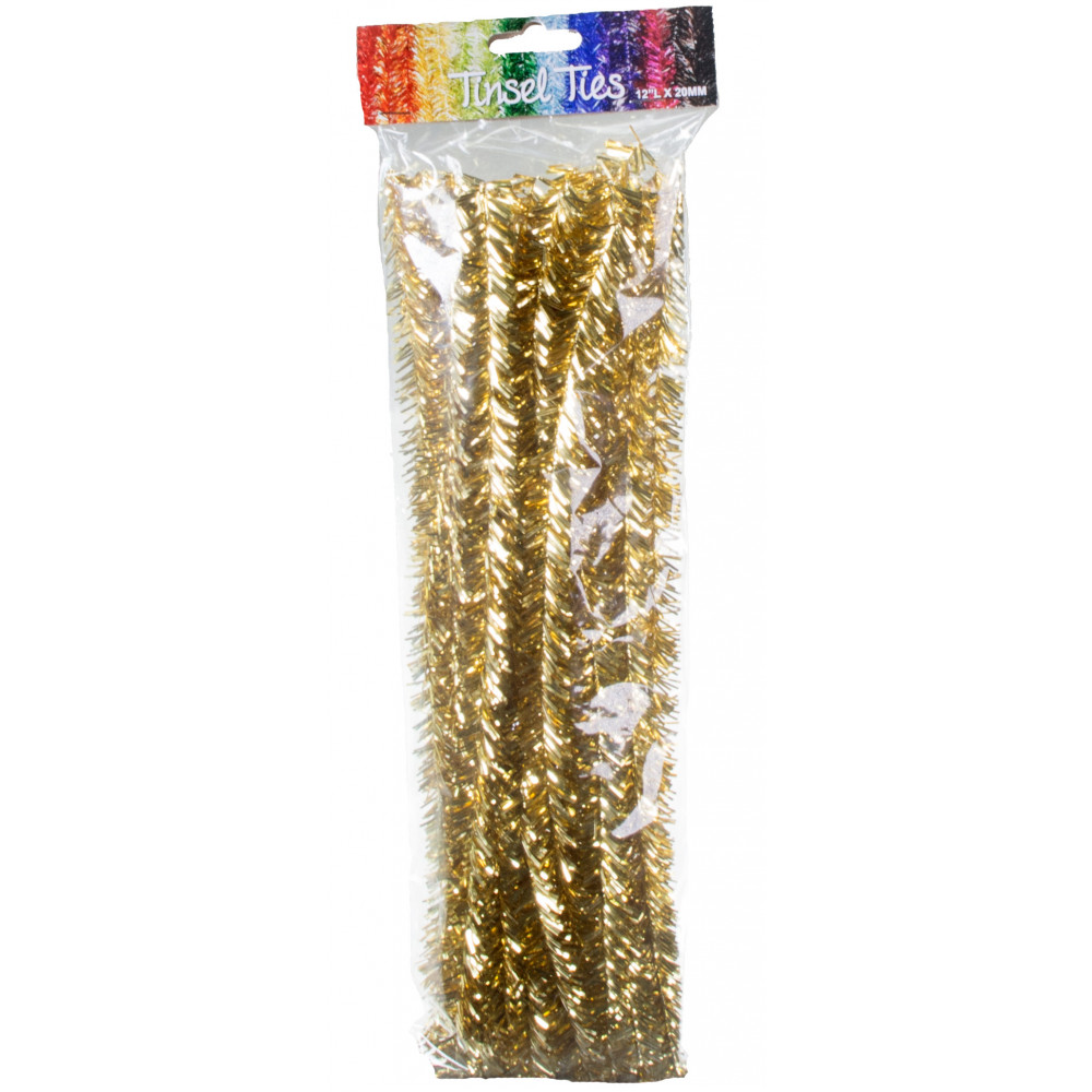 Silver Tinsel Pipe Cleaners Silver And Gold Metallic Twist