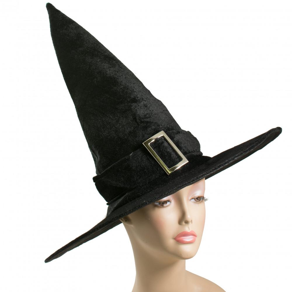 17.5  Velvet Witch Hat Black  sc 1 st  CraftOutlet.com & 17.5