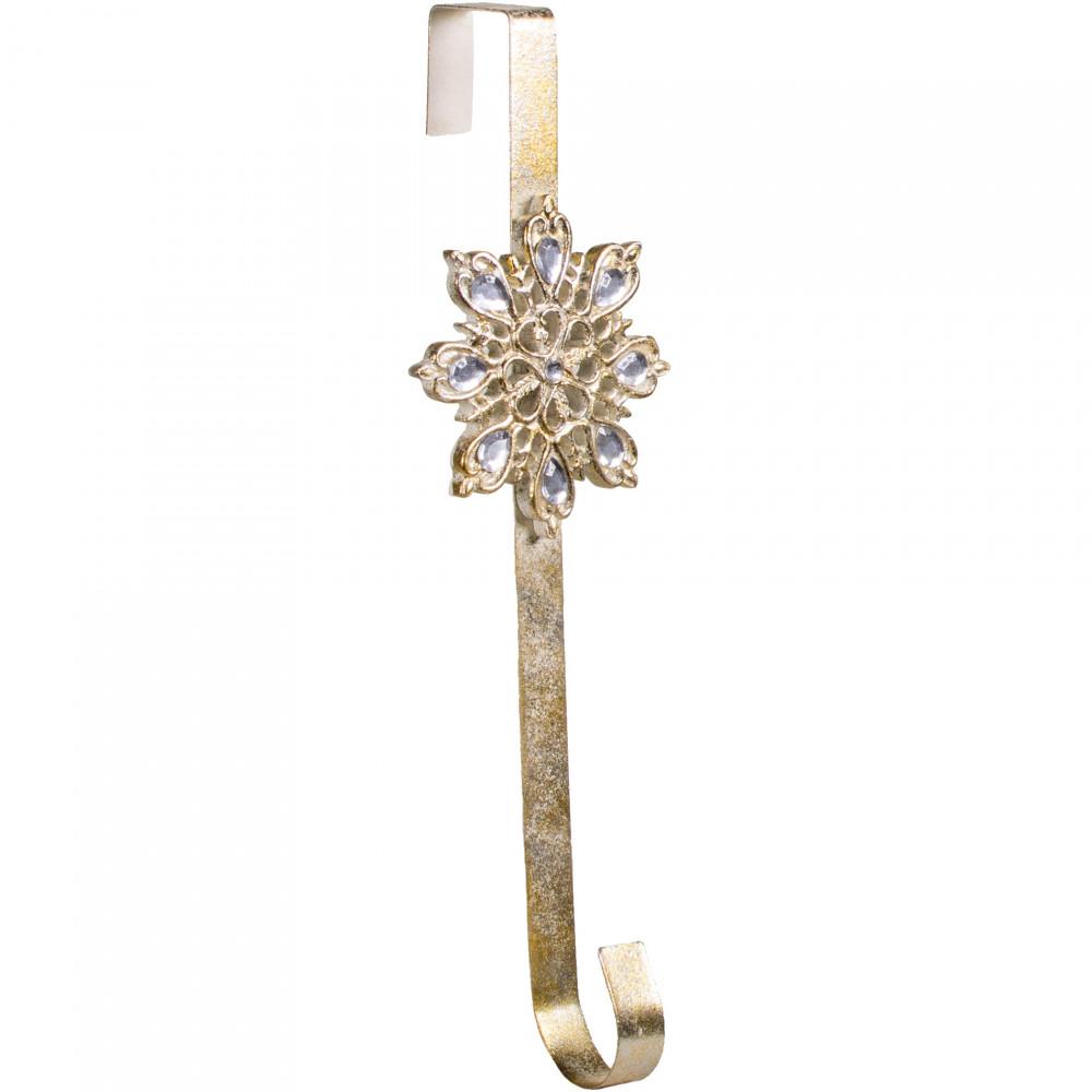 16 Quot Gold Snowflake Wreath Hanger R57827 Craftoutlet Com