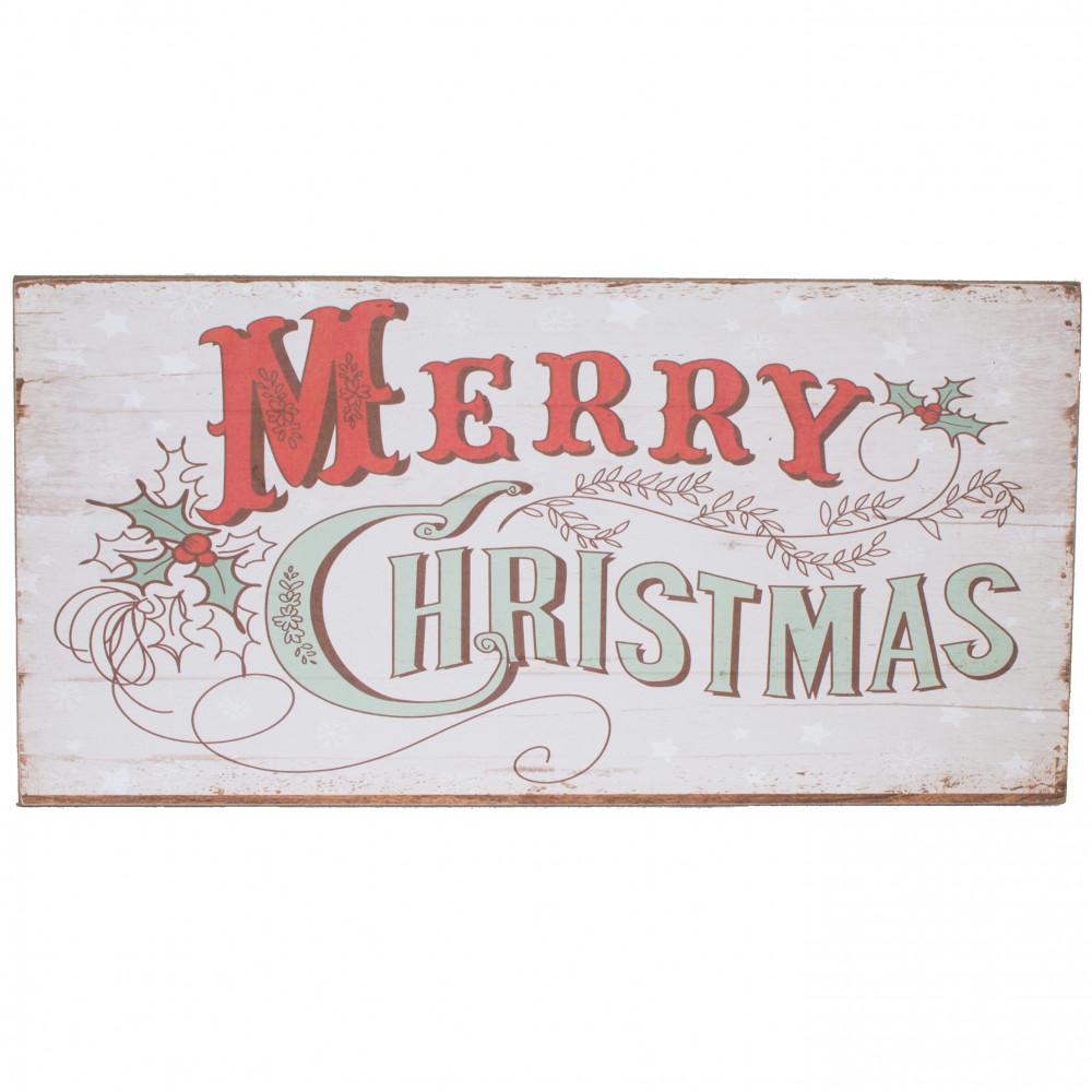 "16"" Wooden Merry Christmas Sign: White [XWM6016"