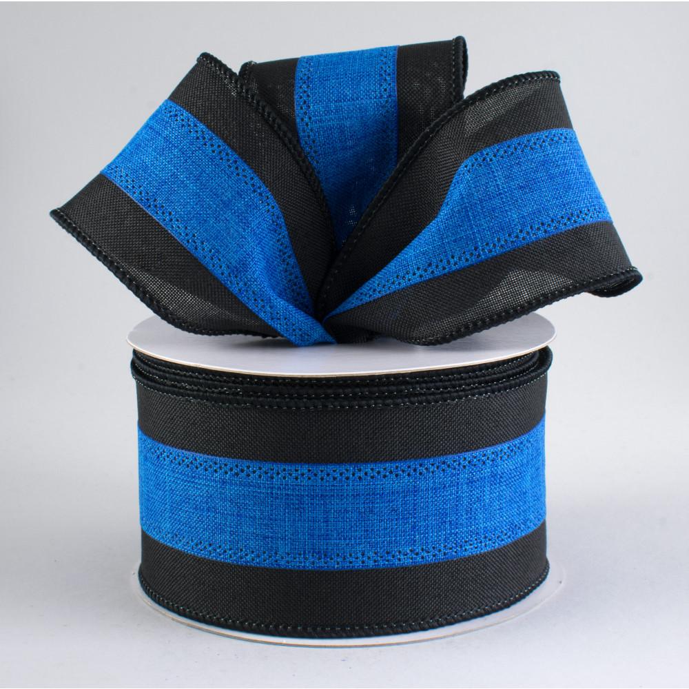 25 police support ribbon black blue 10 yards