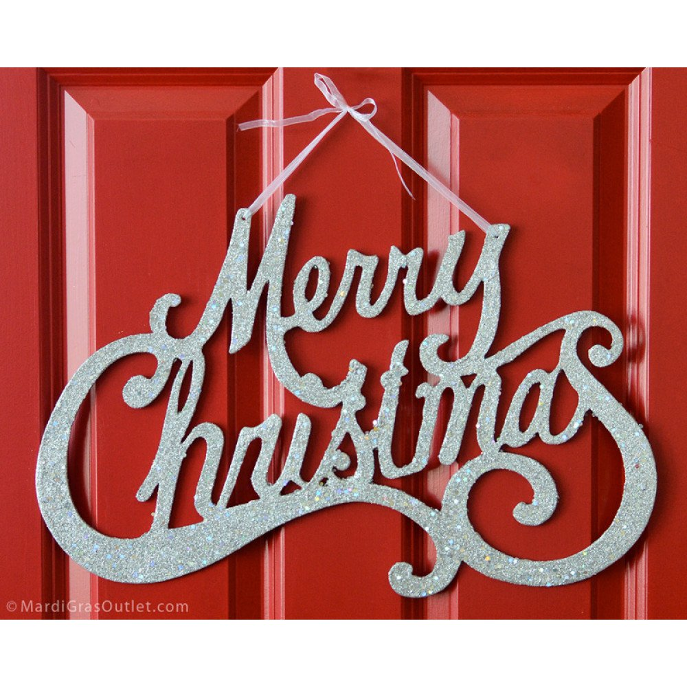 merry christmas glitter cards