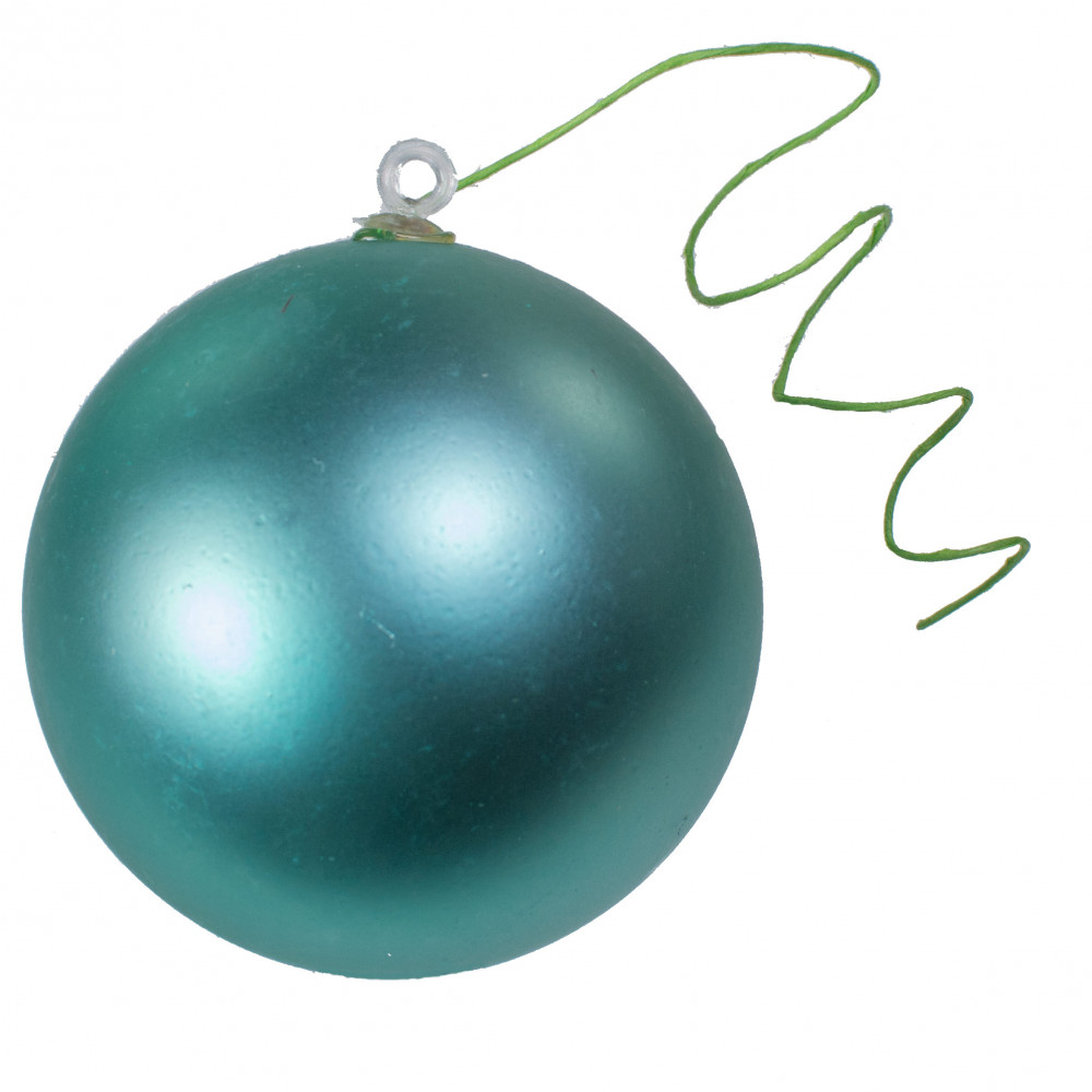 70MM Matte Ball Ornament On Wire: Light Turquoise (12) [XH8319HE ...