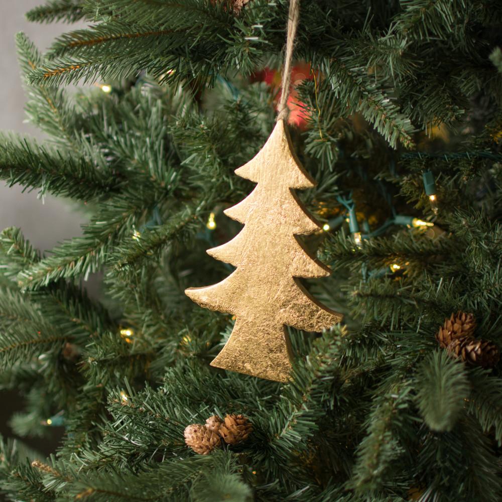 8 wood tree ornament gold leaf 256749 craftoutlet com 8 wood tree ornament gold leaf
