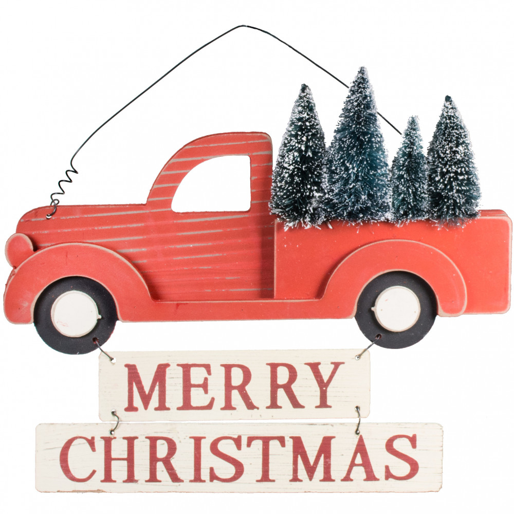 15 Merry Christmas Vintage Truck Sign