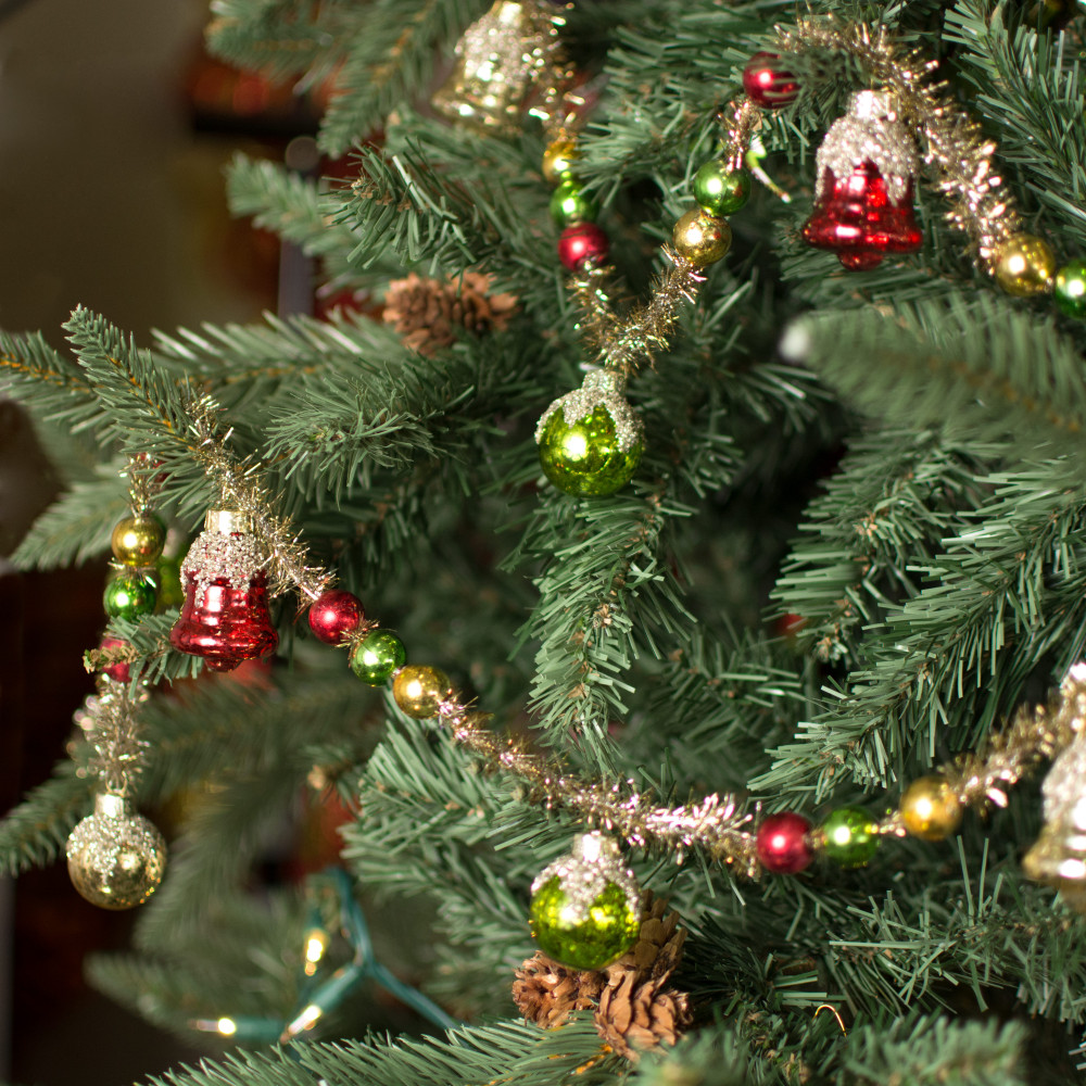 6' Vintage Ornament & Tinsel Garland [G3722838