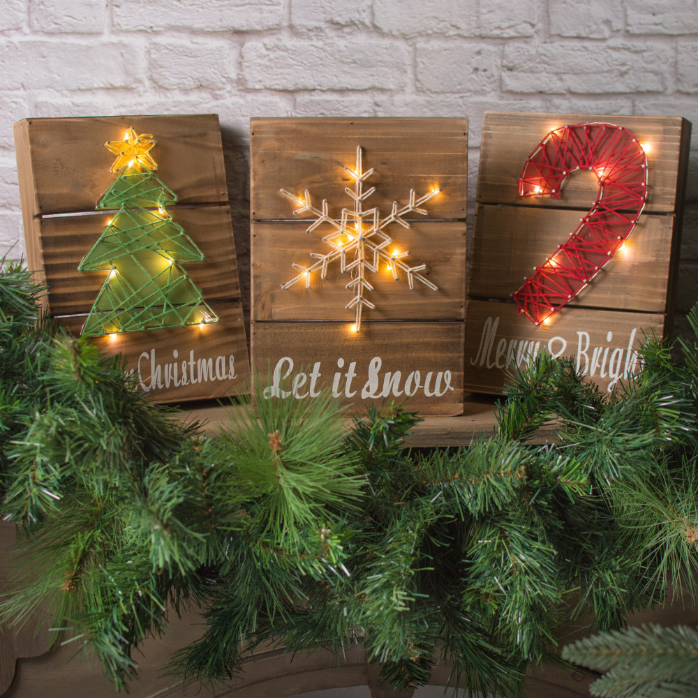 christmas light box letters