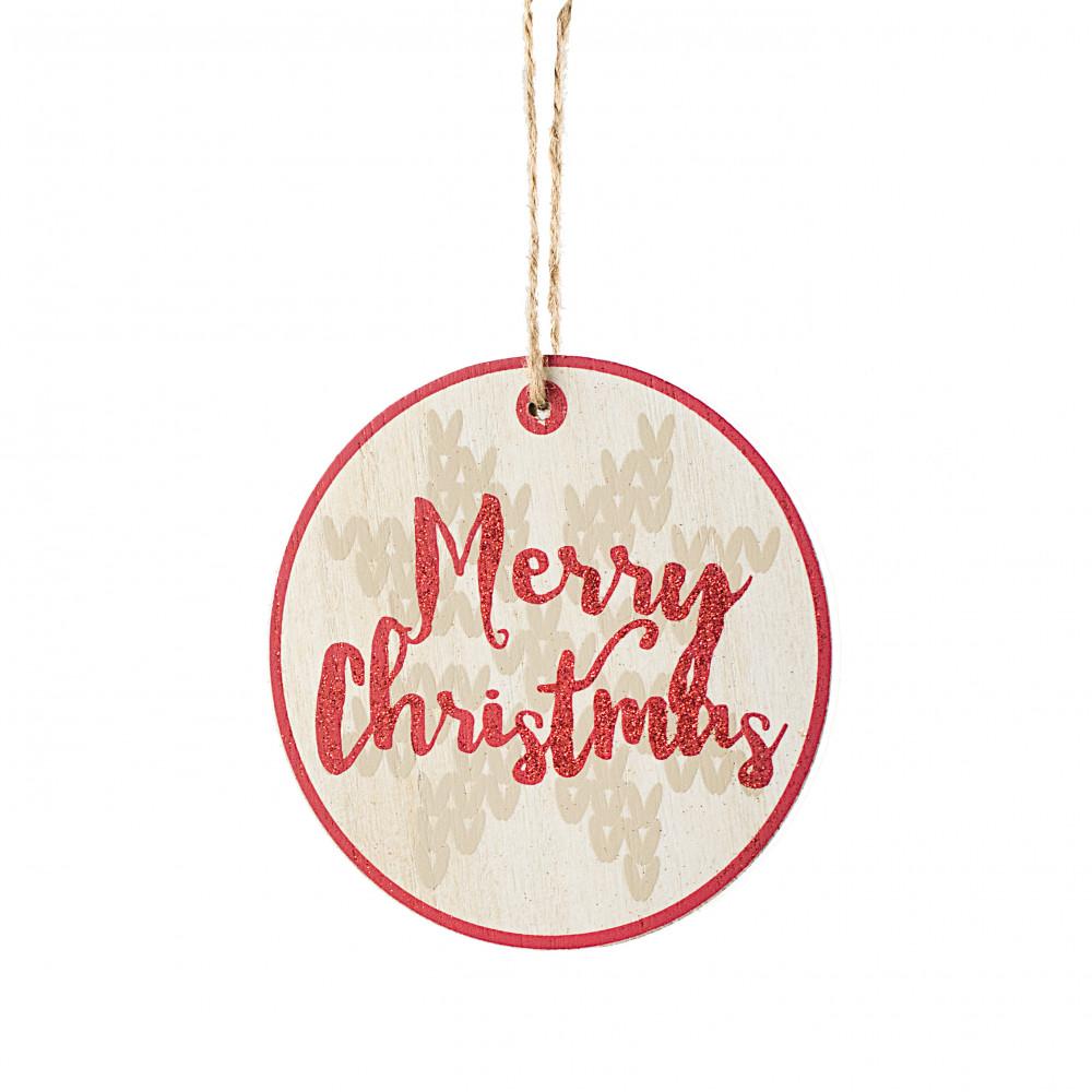 "Merry Christmas Ornaments: 5"" Glitter Merry Christmas Ornament [75034]"