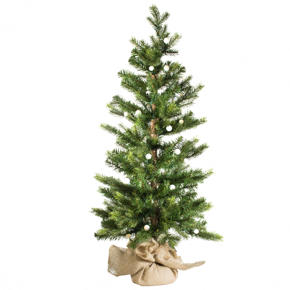 3 Pre Lit Black Spruce Small Christmas Tree