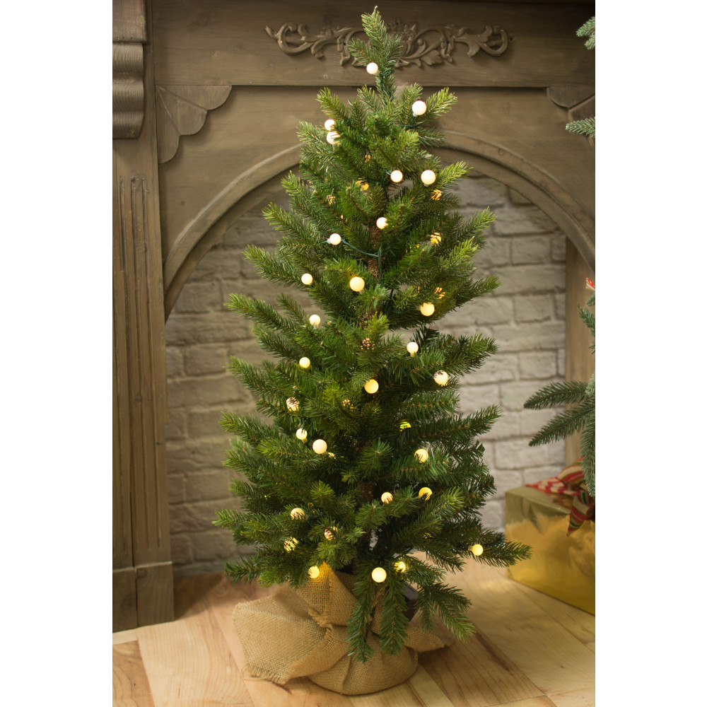 3' Pre Lit Black Spruce Small Christmas Tree [2838044GW ...