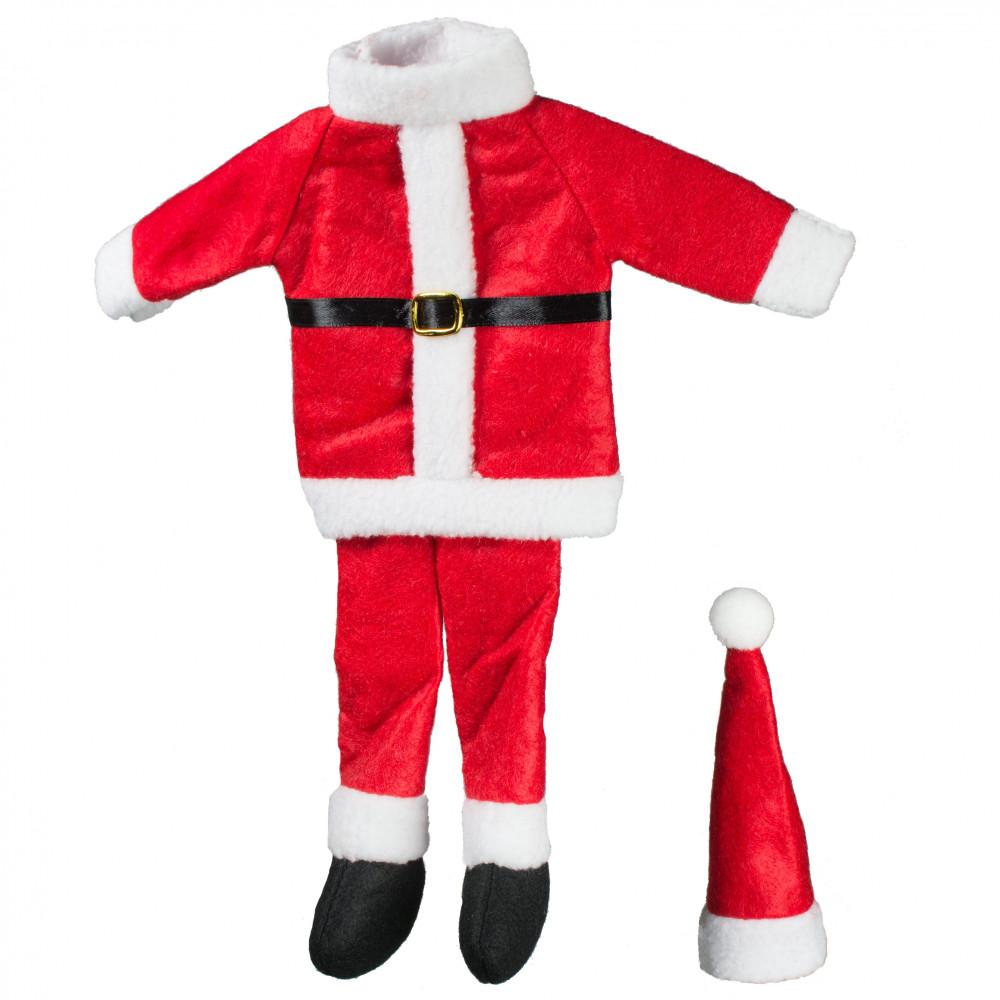 Santa Suit Wine Bottle Cover