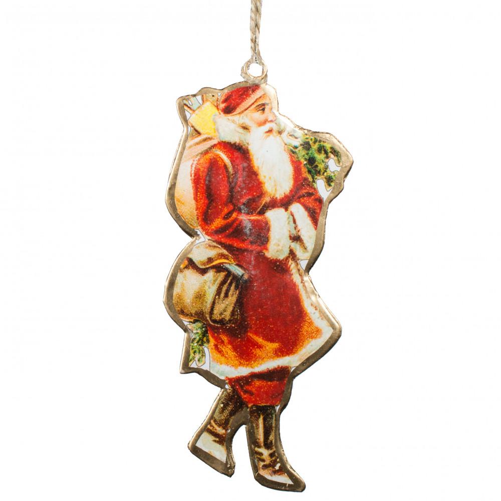 "7"" Vintage Christmas Ornament: Santa & Bag [XT0012 ..."