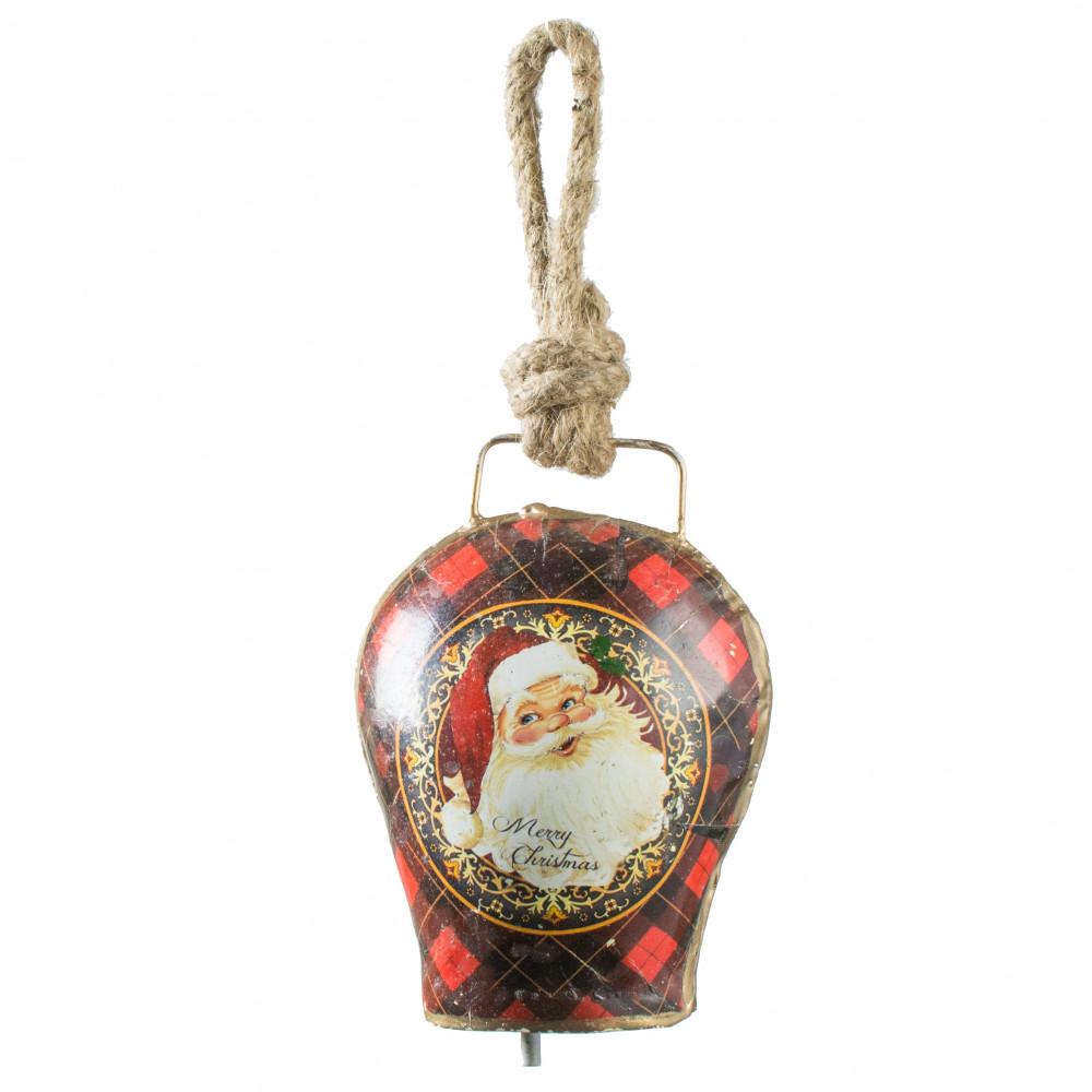 Quot vintage christmas bell ornament singing santa xt a