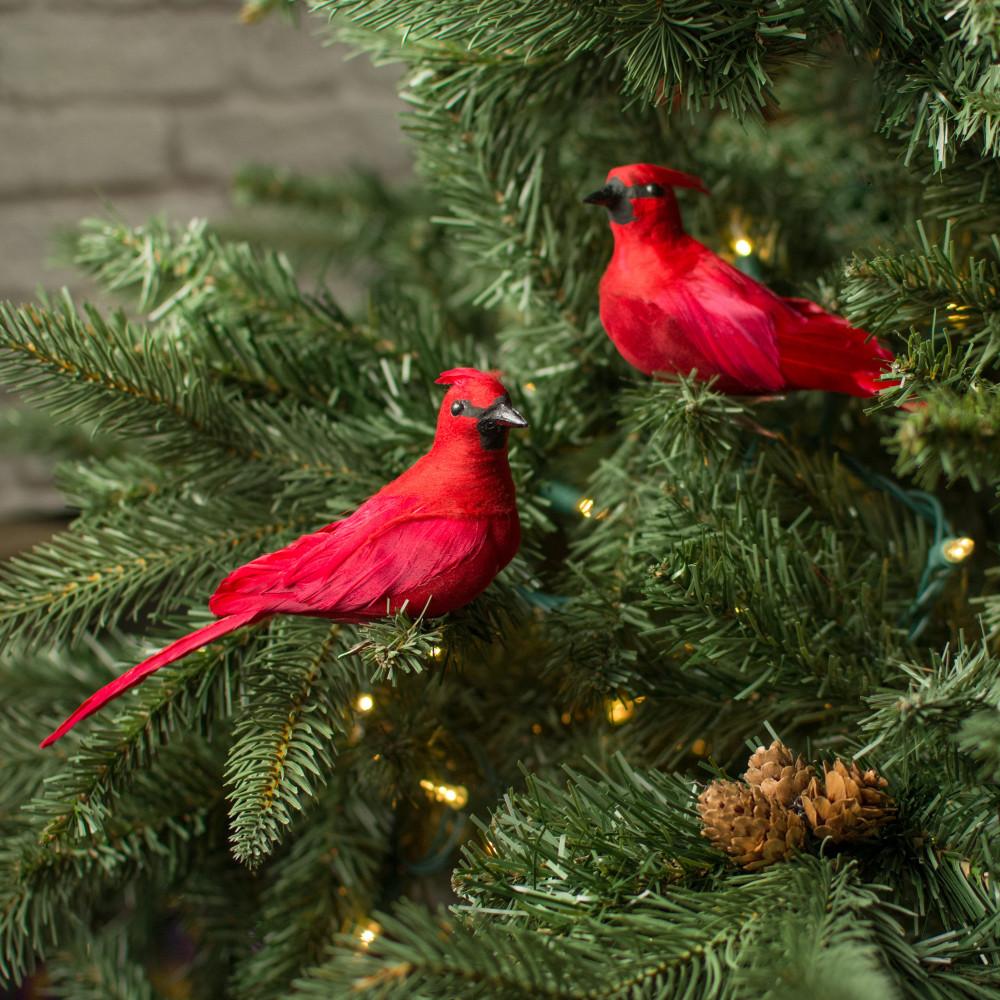 "6"" Cardinal Clip On Bird Ornament (Set of 2) [3102594 ..."