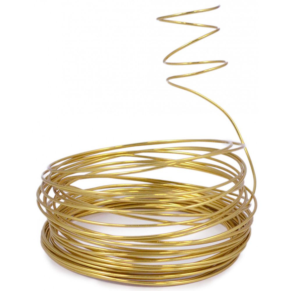 Aluminum Craft Wire 2MM: Gold (13 Yards) [MT103108] - CraftOutlet.com