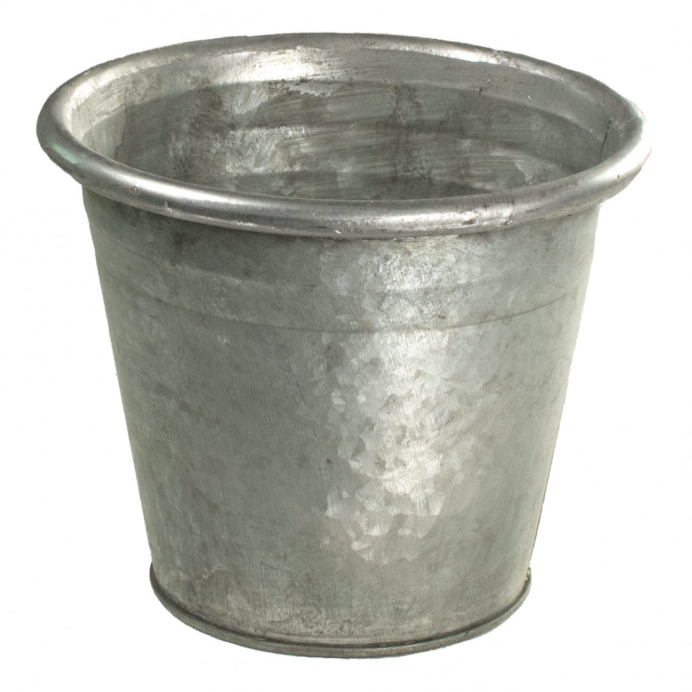 6 galvanized tin pot grey kq962954