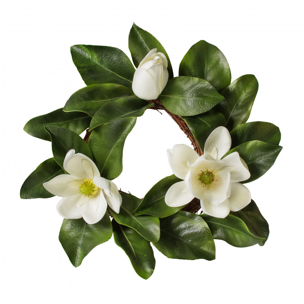 16 magnolia flower candle ring 2839019wh craftoutlet 16 magnolia flower candle ring mightylinksfo