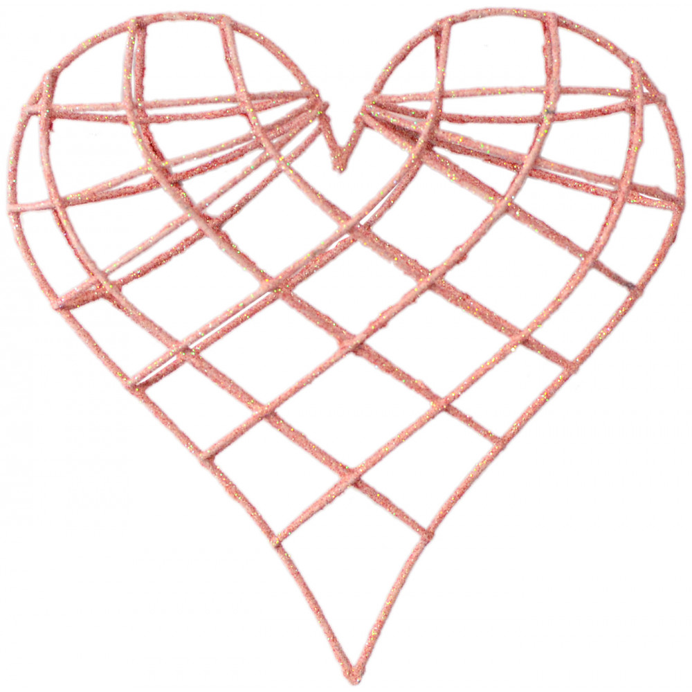 how to make a wire heart decoration