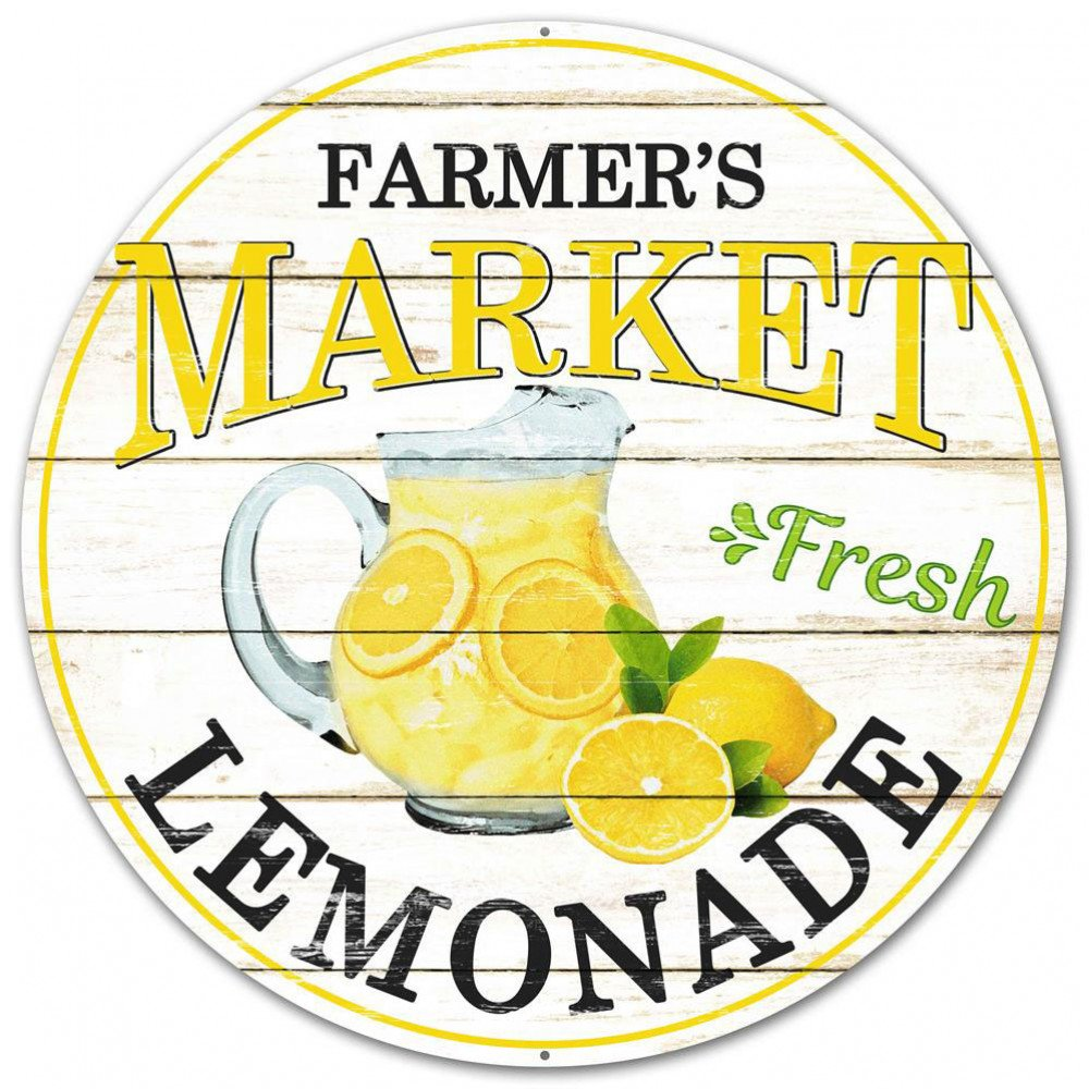 "12"" Metal Farmer's Market Sign: Lemonade [MD0344 ...Lemonade Sign"