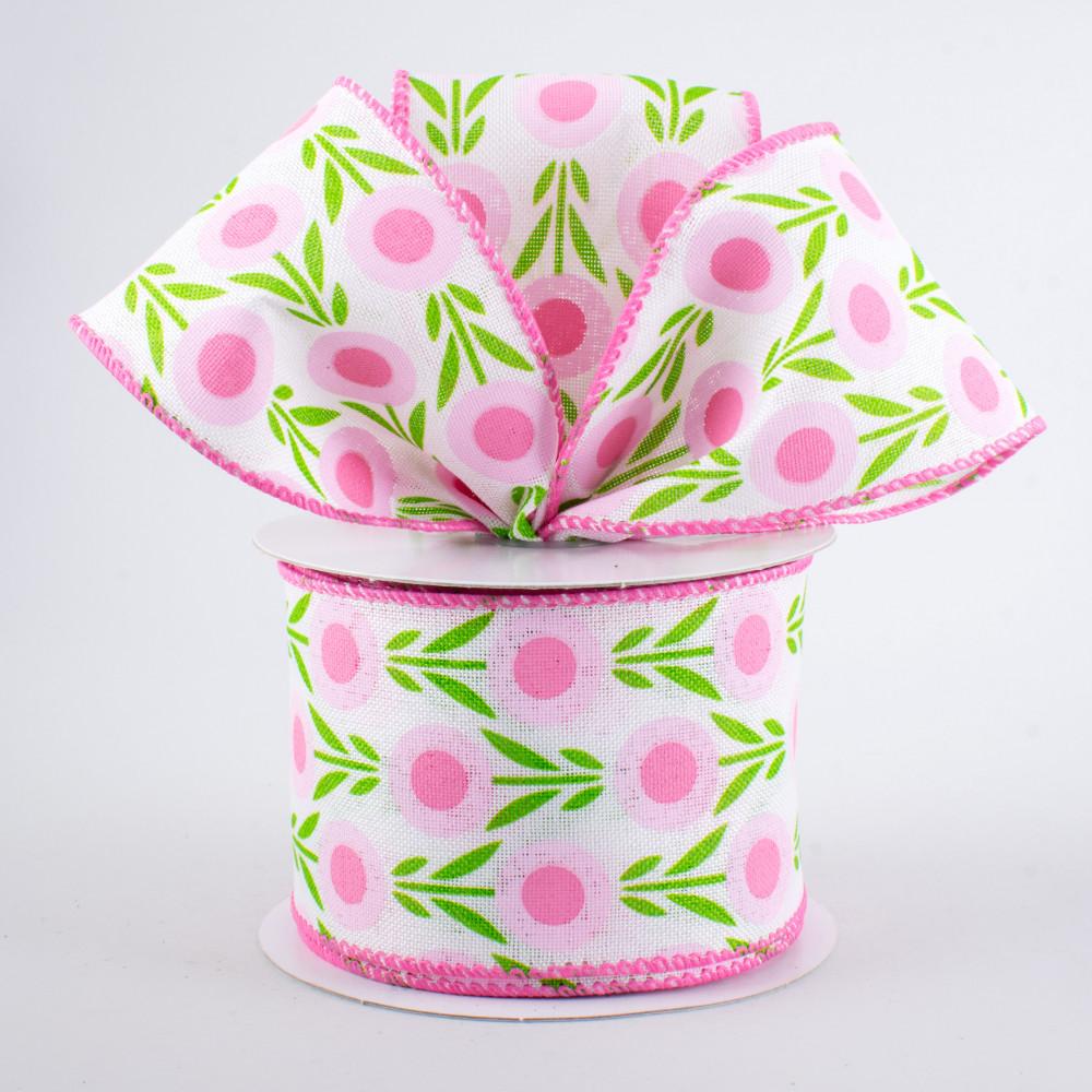 25 Lollipop Flowers Ribbon Light Pink 10 Yards Q813540 03