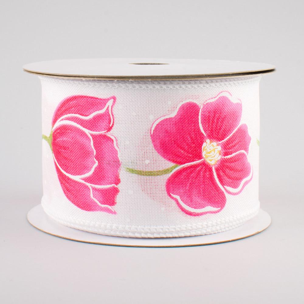 25 Pink Poppy Flower Ribbon 10 Yards 254994 Craftoutlet
