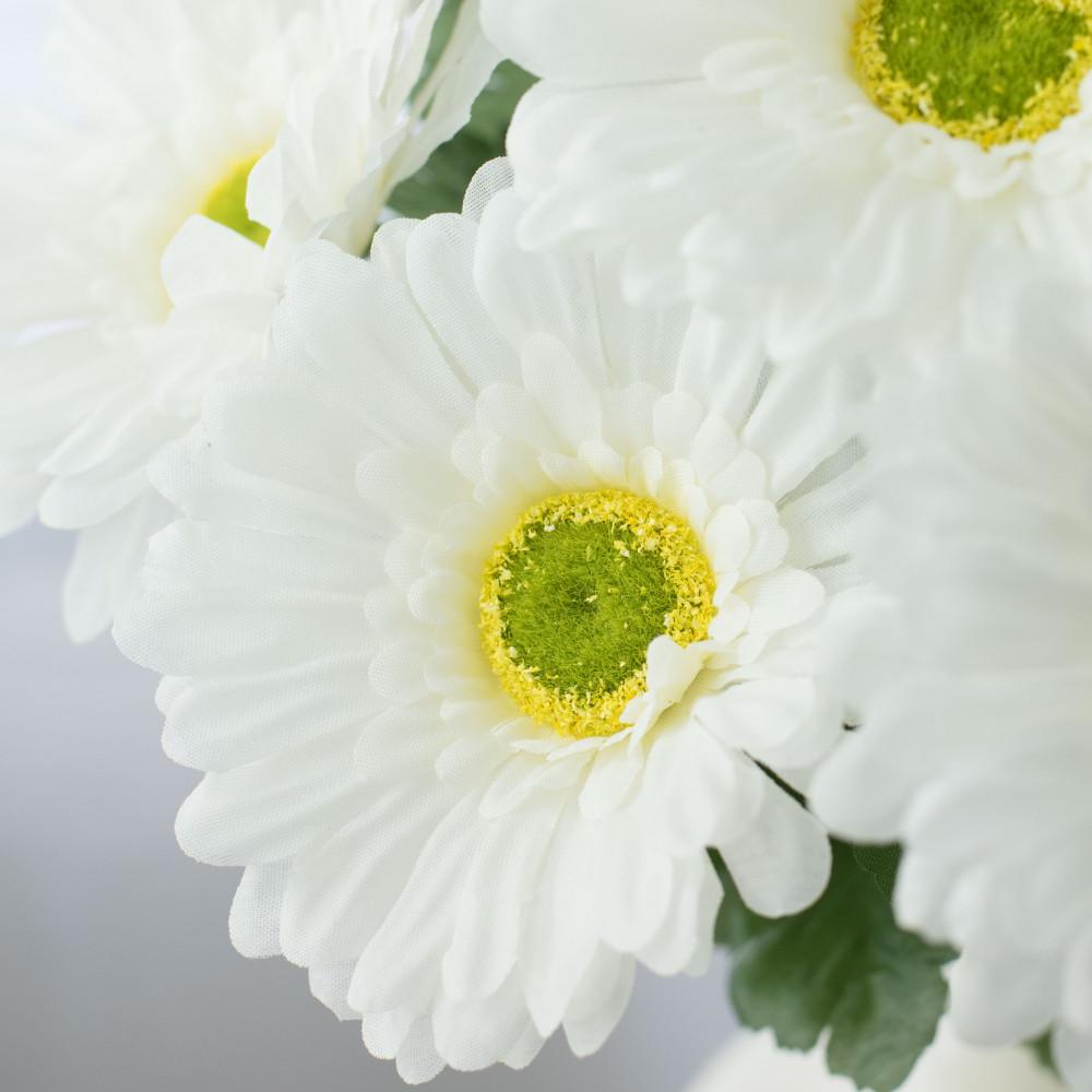 21 Gerbera Daisy Bush White 12 267040 Craftoutlet